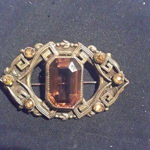 Art Deco broach w/ topaz stonesmw
